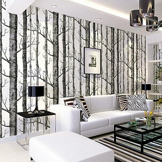 Tapete Birke, Tapeten Wohnzimmer, Fototapete Birkenwald Vliestapete 3D  Tapete Wandtapete Wallpaper Schlafzimmer Tapete Baum Moderne Dekoration ...