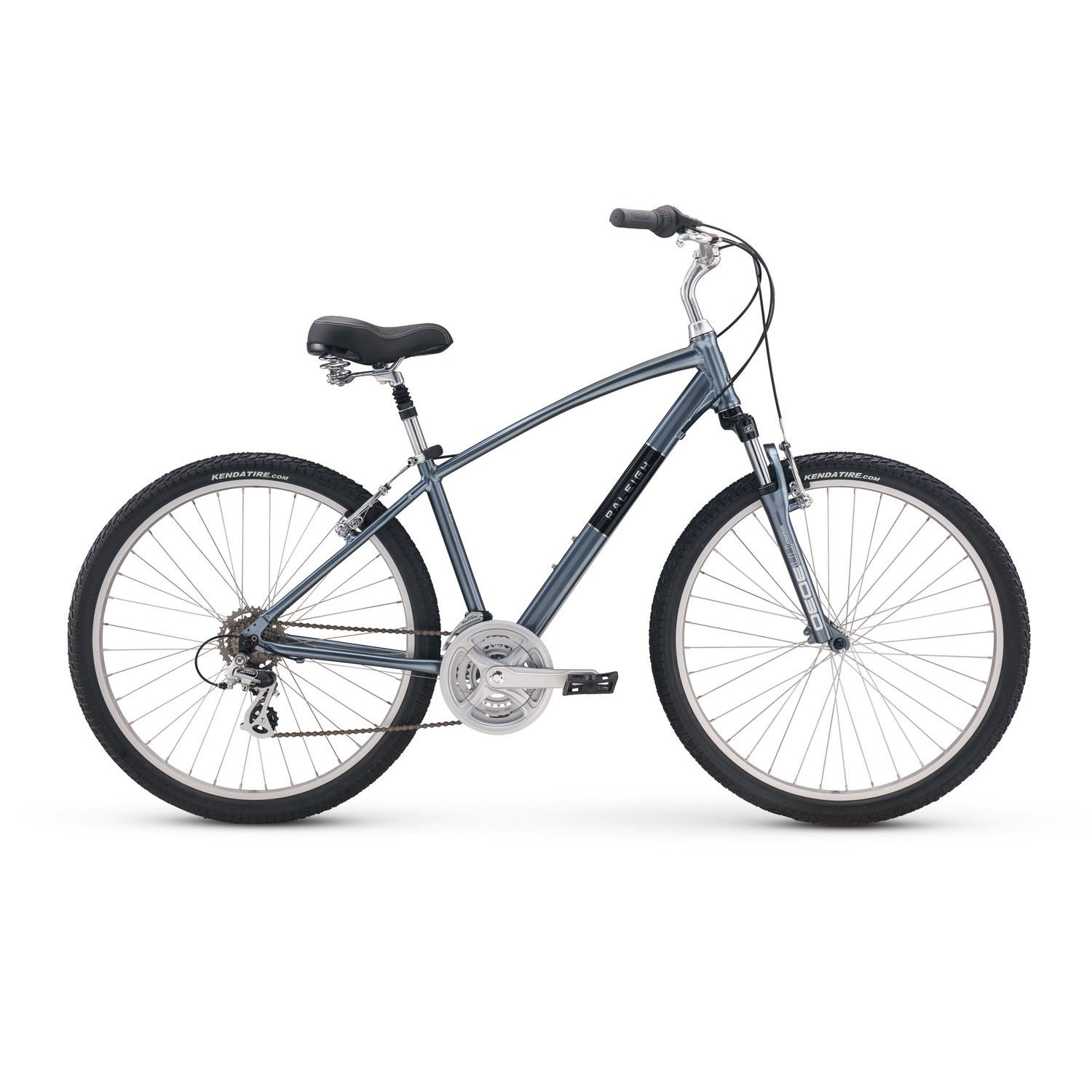 新しい2018 Raleigh Venture 2 Complete City Bike B0789RP3P3 Large|シルバー シルバー Large
