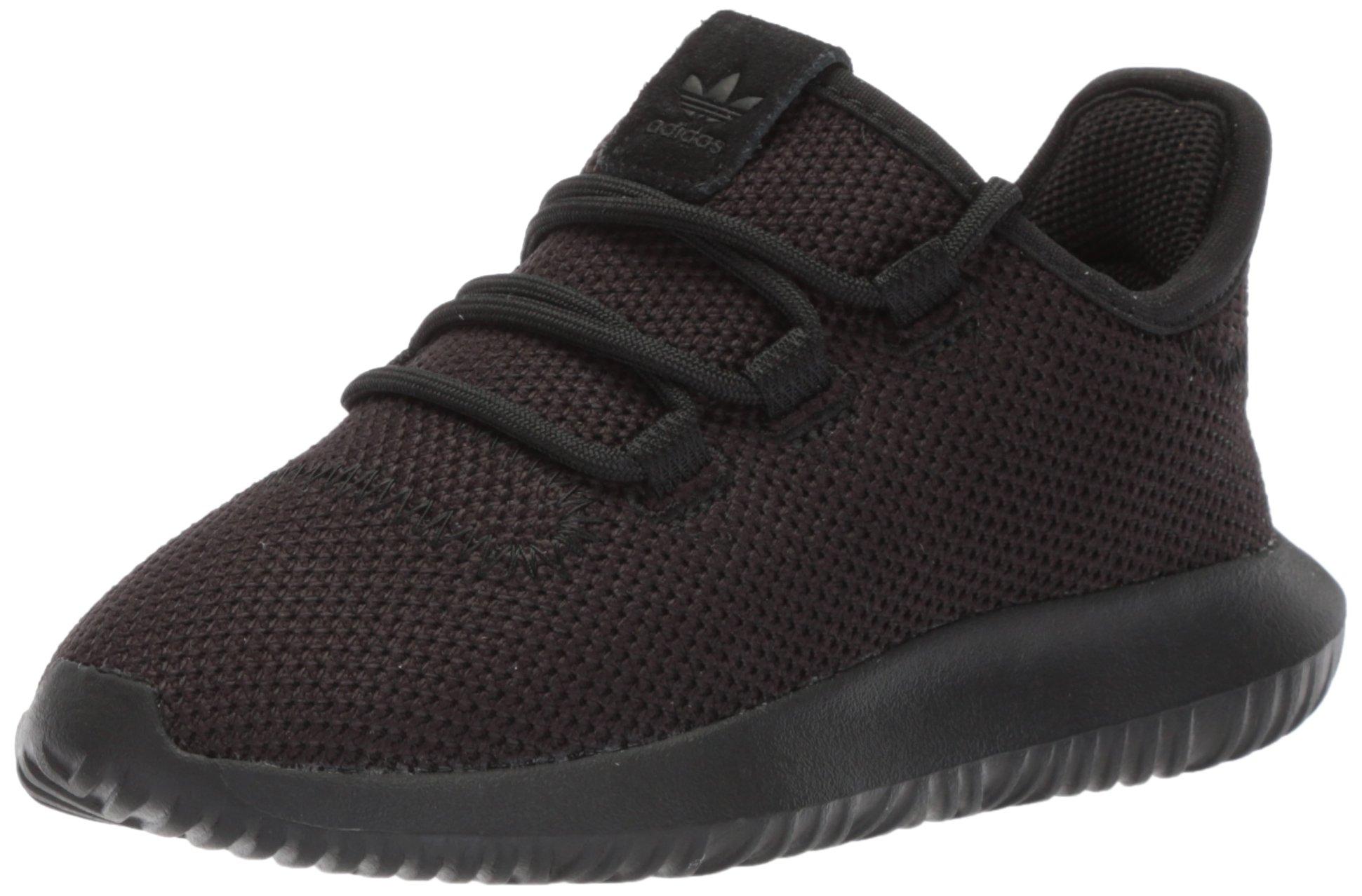 adidas Originals Unisex Tubular Shadow Running Shoe, White/Black, 1.5 M US Little Kid