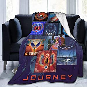 "Bestrgi Soft Print Daily Home Blanket Fleece Jou-r-ney Band Lightweight Cozy Warm Throws Blanket for Bedroom Living Room Couch Office Chair 50""x40"""