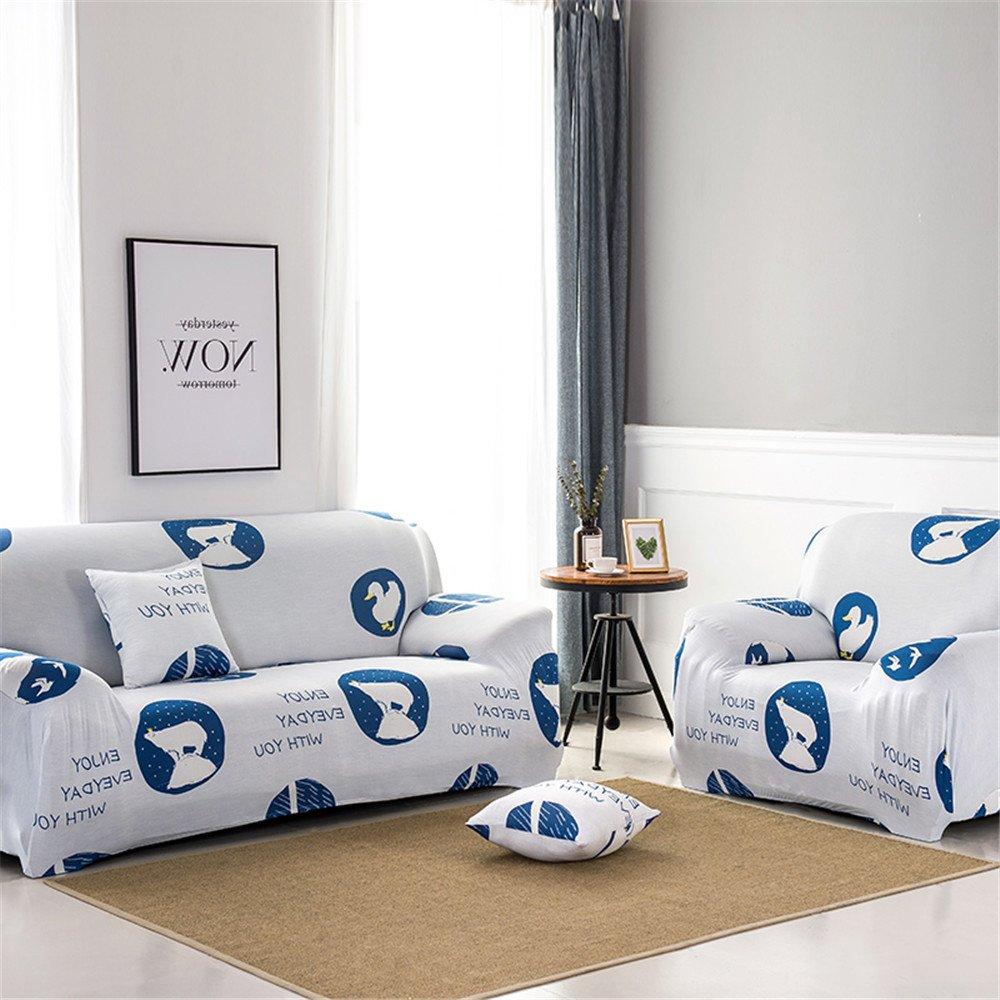 Amazon.com: NHockeric Polyester Sofa Cover Elastic Spandex ...
