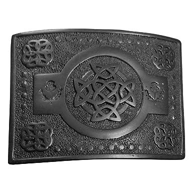 56582939e24 Hommes Boucle De Ceinture De Kilt Écossais Travail Nœud Celtique Chardon  Modèle Finition Noire celtique