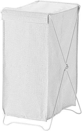 IKEA ASIA TORKIS - Cesta para la Colada, Color Blanco y Gris: Amazon.es: Hogar
