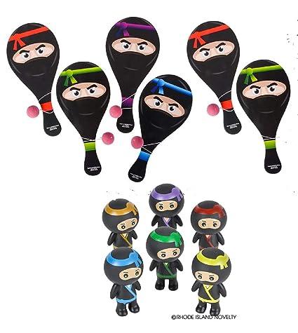 Amazon.com: Fun Set of Ninja Party Favors ~ 6 Wooden Ninja ...