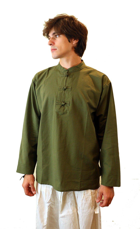 manakamana Men's Ethnic Yoga Shirt -Kurta SH154