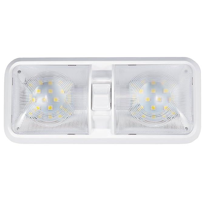 a7d862ef1ed Kohree lámpara LED 12 V Bombilla lámpara de techo para coche luz blanca luz  interior para vehículo barco 48 x 5050SMD con interruptor on off  interruptor  ...