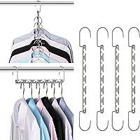 Space Saving Hangers Metal Wonder Magic Clothes Closet Hangers Hangers for Closet Organizer 8 Pack