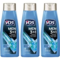 3 Pk, Alberto VO5 Men's 3-in-1 Shampoo Conditioner Body Wash , Ocean Surge 15 fl. oz.
