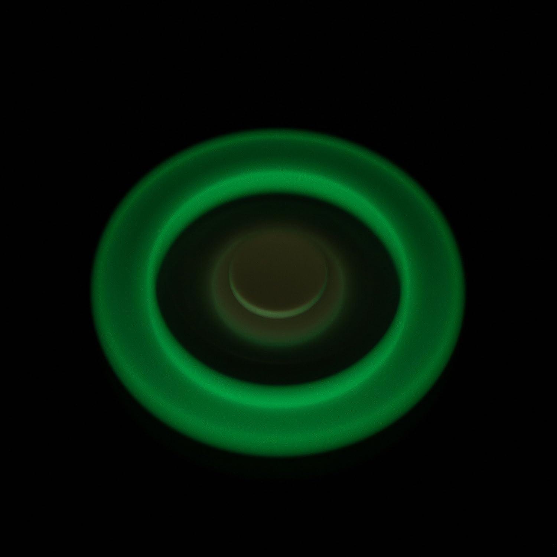 VAPIAO Fidget Tri Spinner Special Version mit 4 Hochleistungs Kugellagern mit fluoreszierendem Gummiband Anti Stress Kreisel Hand Spielzeug in Rot dreifach