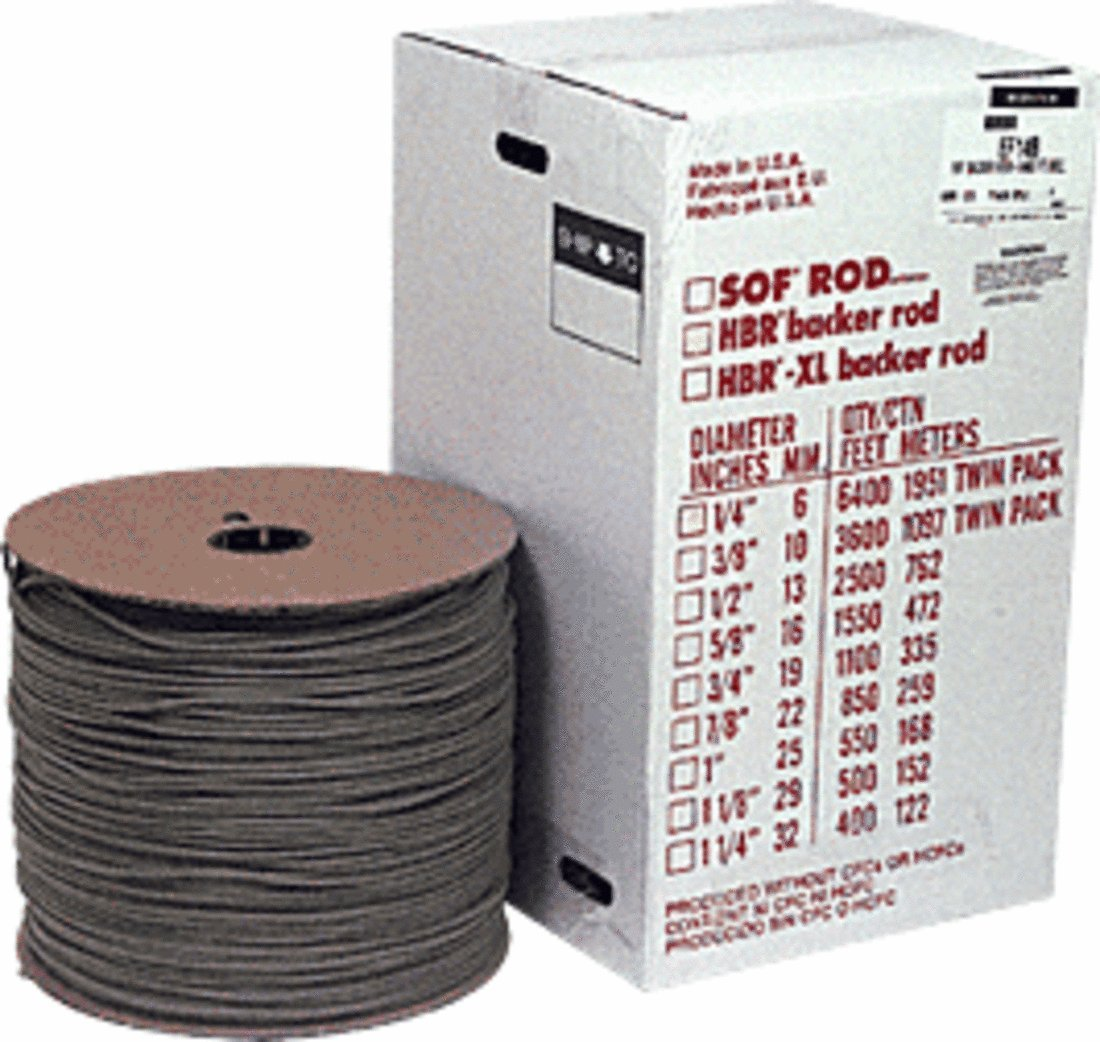 1 4 Closed Cell Backer Rod 6400 ft Bulk Box