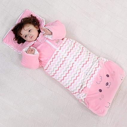Gleecare Saco de Dormir para bebé,Otoño e Invierno cristalino Terciopelo Grande Saco Terciopelo Espeso