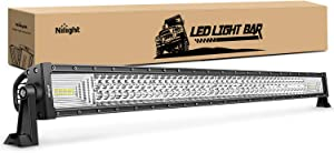 Nilight - 18018C-A LED Light Bar 42Inch 648W Triple Row Flood Spot Combo Led Bar 43000LM Driving Lights Super Bright Led Off Road Lights for Trucks Jeep UTV ATV Boat,2 Years Warranty