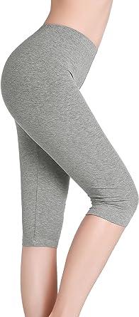 CnlanRow Mujer Pantalones Capri Leggings Cortos Bajo Falda ...