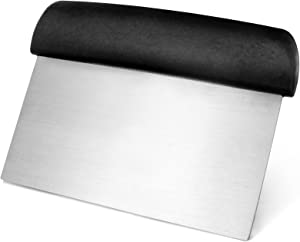 New Star Foodservice 36091 Plastic Handle Dough Scraper, 6 by 3-Inch, Black