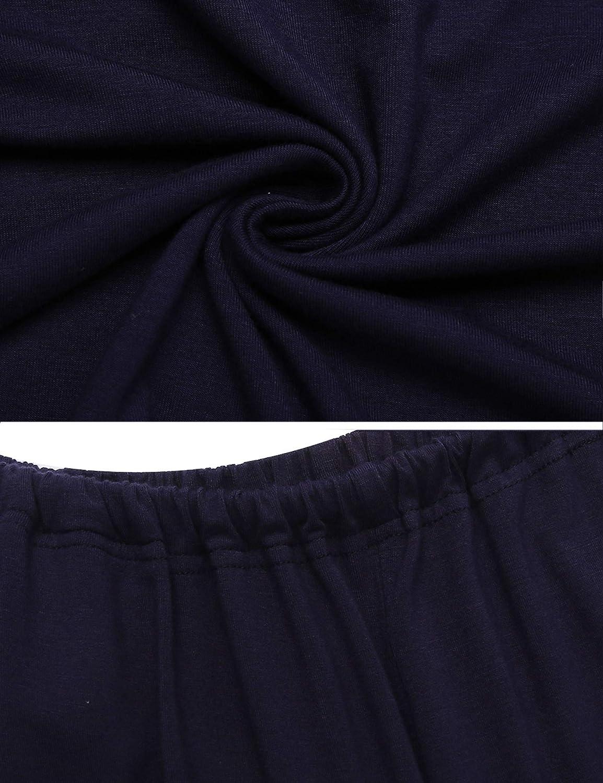 Unibelle/Schlafanzug Schwangerschaft Lang Stillpyjama/Umstandspyjama/Langarm/Mutterschaft/Nachtw/äsche/Stillschlafanzug/Krankenhaus/Wochenbett/Sleepwear/Stillzeit/S-XXL