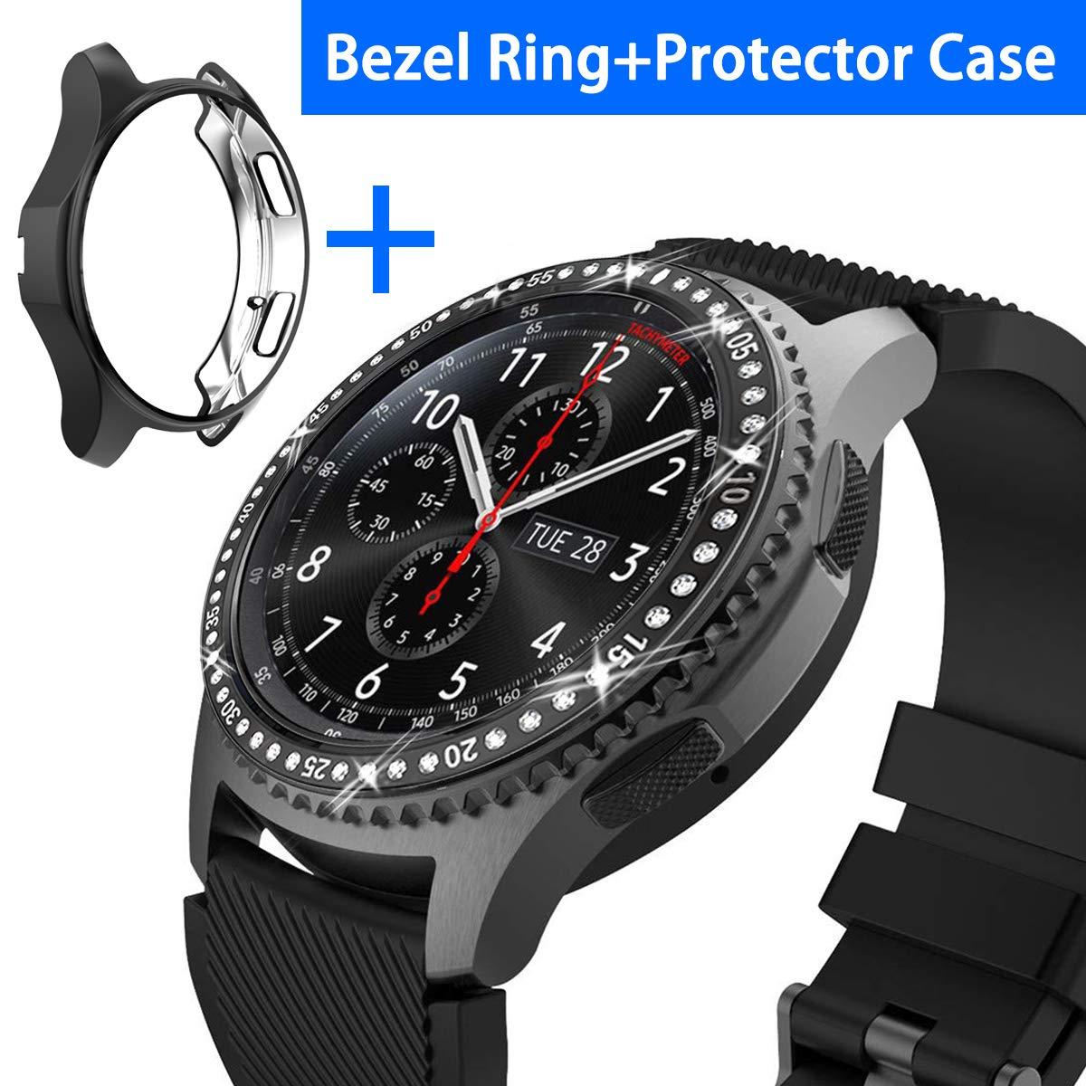 a972e8a96f5f Amazon.com: [2 Pack] JZK Samsung Galaxy Watch 46mm/Gear S3 Frontier ...