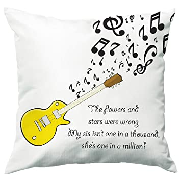 Buy Ladecor Rakhi Brother Sister Printed Cushion Cover With