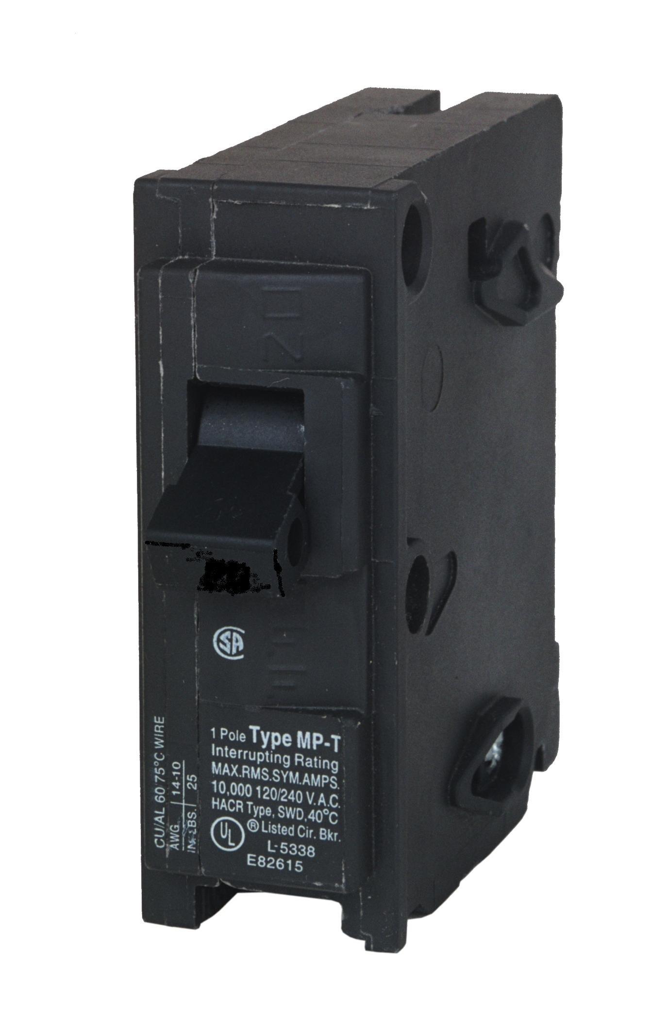 MP150 50-Amp Single Pole Type MP-T Circuit Breaker
