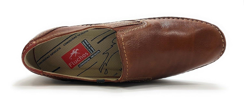 Fluchos Mocasines de Otra Piel Hombre, Marrón (Marrón), 42 EU: Amazon.es: Zapatos y complementos