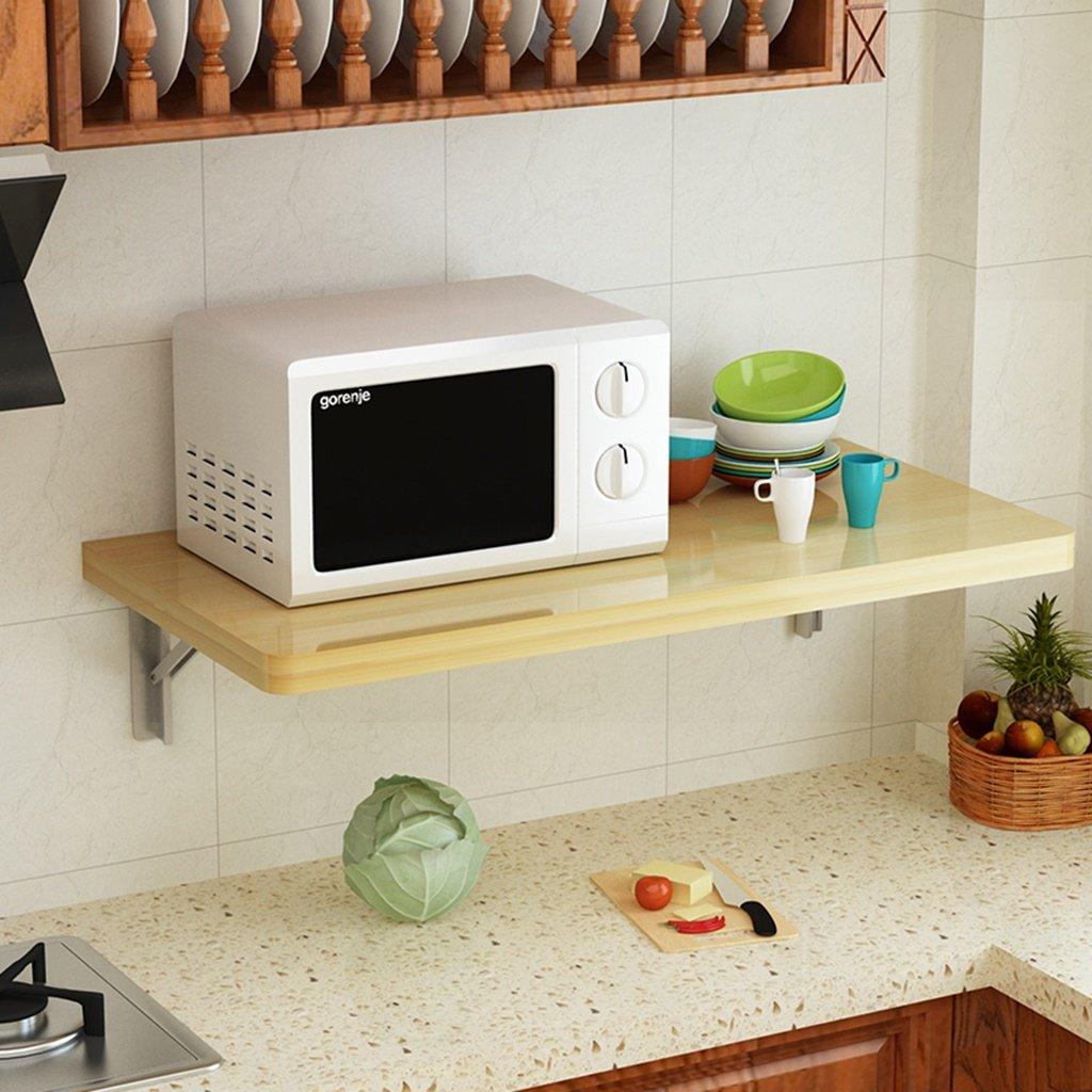 descuento de ventas en línea Even wall wall wall table Mesa de comedor de madera maciza Mesa plegable Mesa de ordenador portátil de madera maciza Mesa de desayuno plegable plegable Mesa de comedor plegable y plegable  tienda de venta