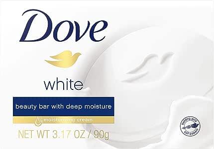 Dove White Moisturizing Cream Beauty Bar for Unisex By Dove, 3.15 Ounce