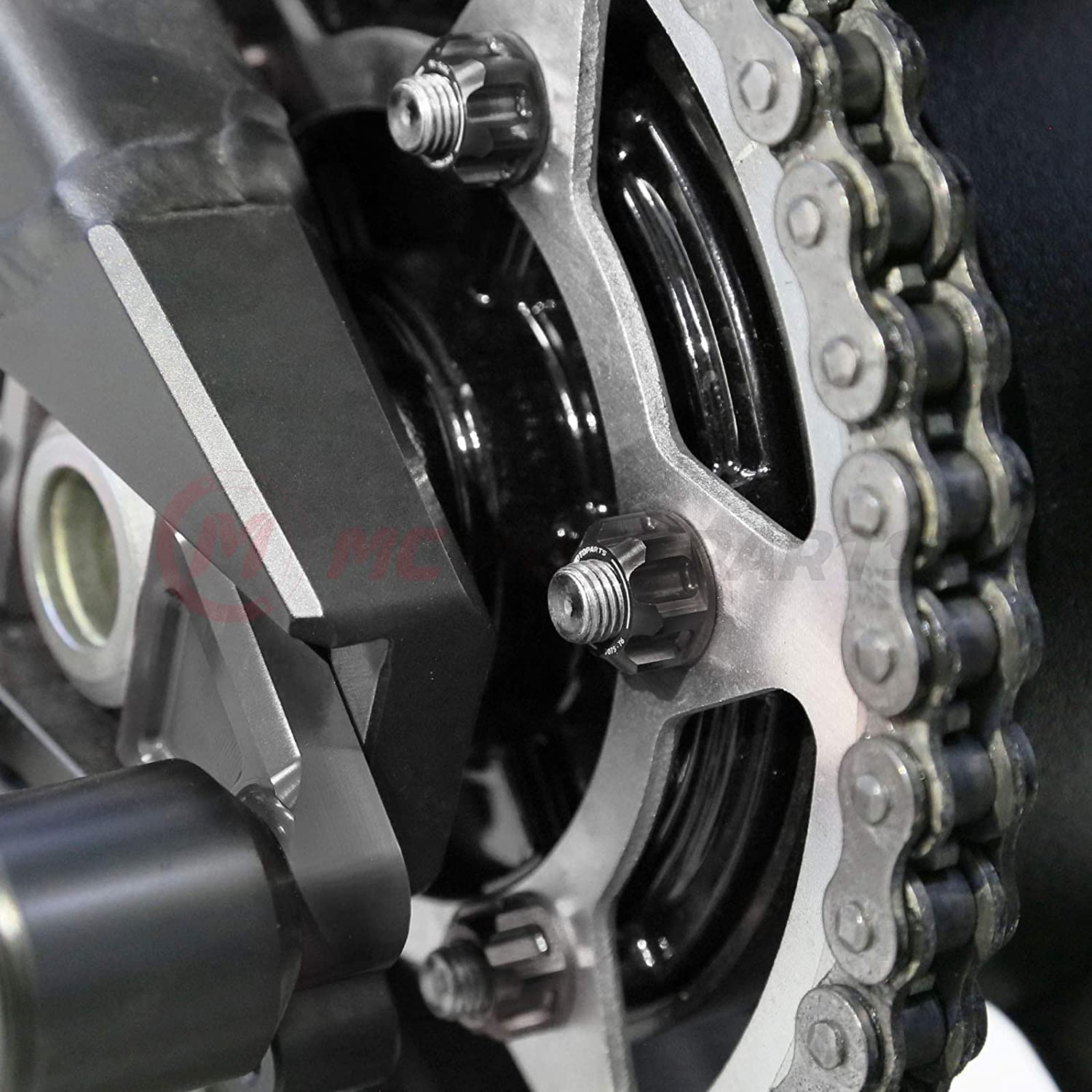 ZX-6R ZZR 1400 ZX-10R ZX-14R Gold MC MOTOPARTS CNC Racing Rear Sprocket Nuts Set For Ninja 400 Ninja 650R