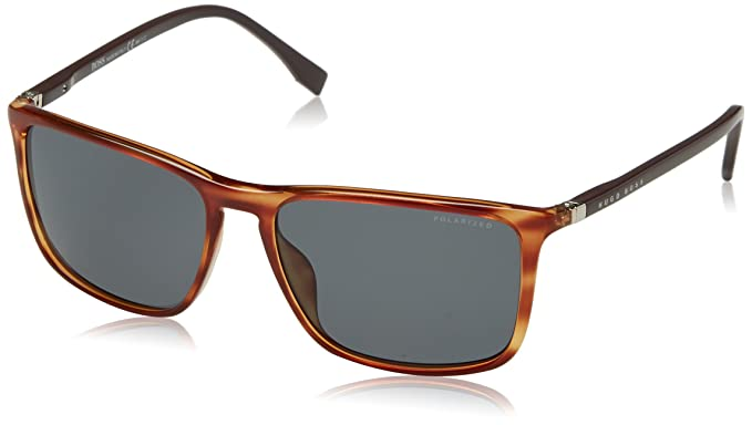 ea72b4dc818b Amazon.com: Sunglasses Boss Black Boss 665 /S 01N1 Yellow Horn / RA ...