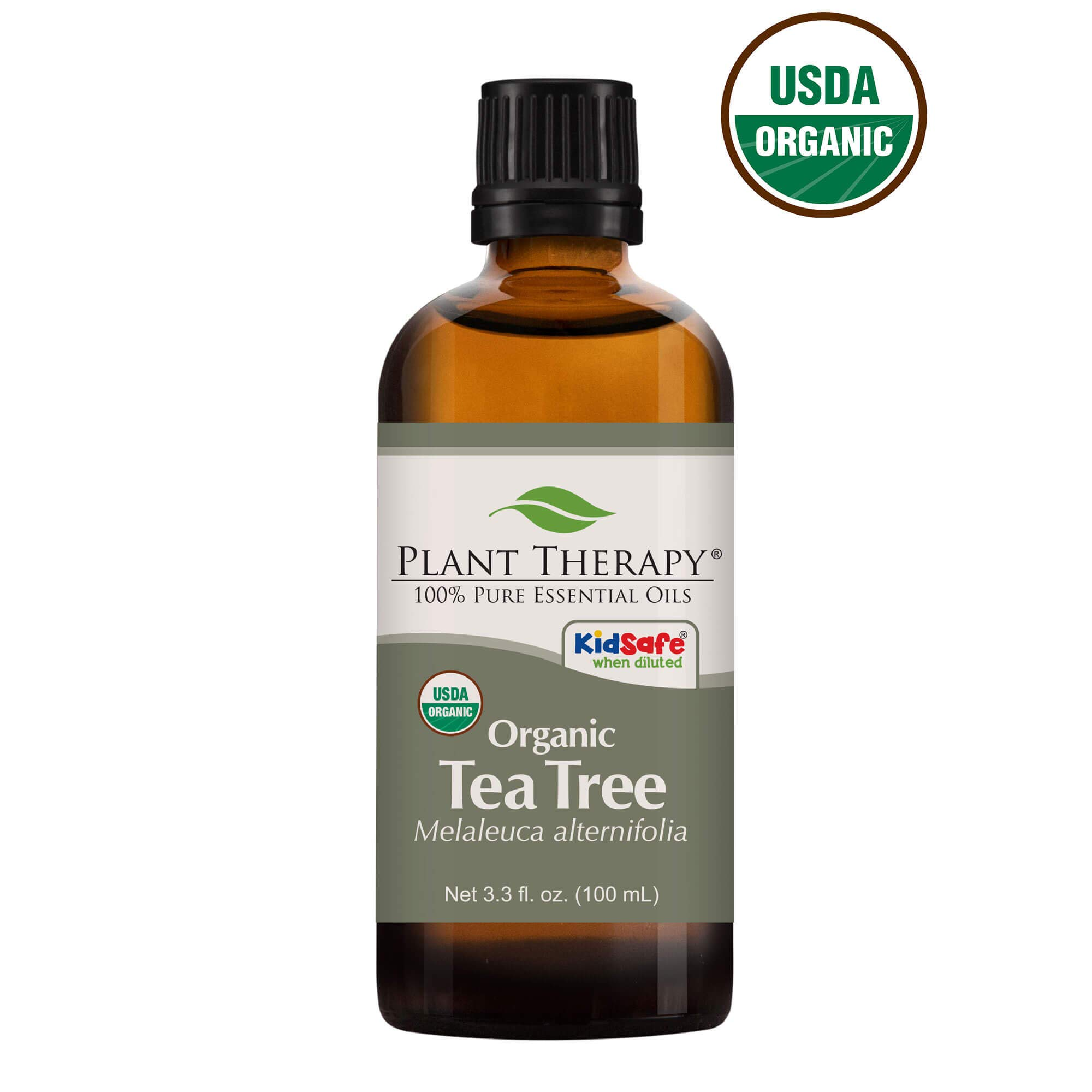 Plant Therapy Tea Tree Organic Essential Oil 100% Pure, USDA Certified Organic, Undiluted, Natural Aromatherapy, Therapeutic Grade 100 mL (3.38 oz) by Plant Therapy