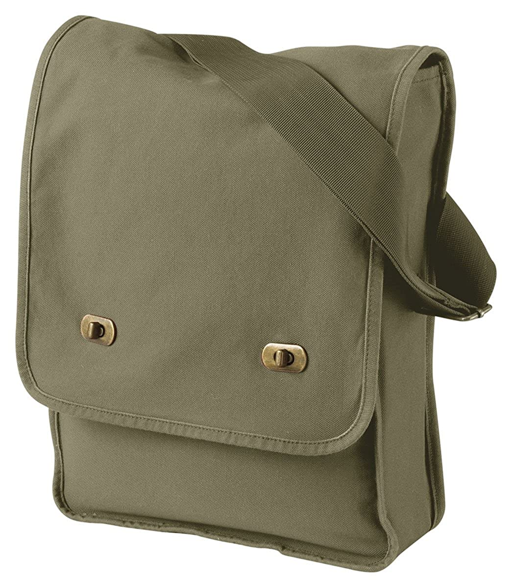 Authentic Pigment 14 oz Pigment-Dyed Canvas Field Bag