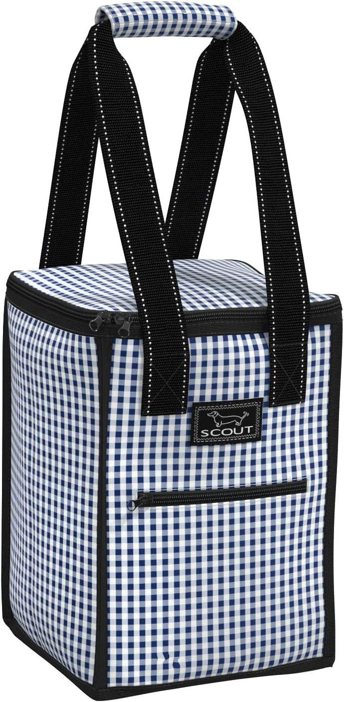 SCOUT Pleasure Chest Soft Cooler, 4 Bottle Wine Cooler Bag, Water Resistant Insulated Soft Cooler Tote with Zipper Closure (Multiple Patterns Available)