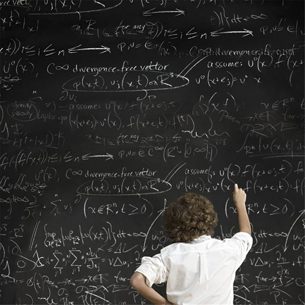 Fleave Self-Adhesive Blackboard Removable Chalkboard Wall Sticker for Home and Office 35.4' x 78.7', Black 14176