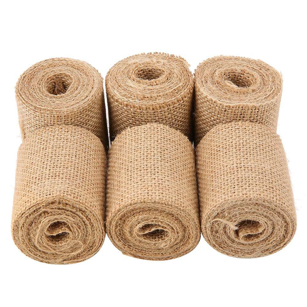 Amazon.com: Yosooo Lace Jute Ribbon, 2M/Roll Natural Burlap ...