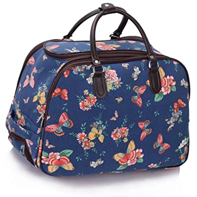 Ladies Travel Bags Holdall Womens Hand Luggage Horse Print Bag ...
