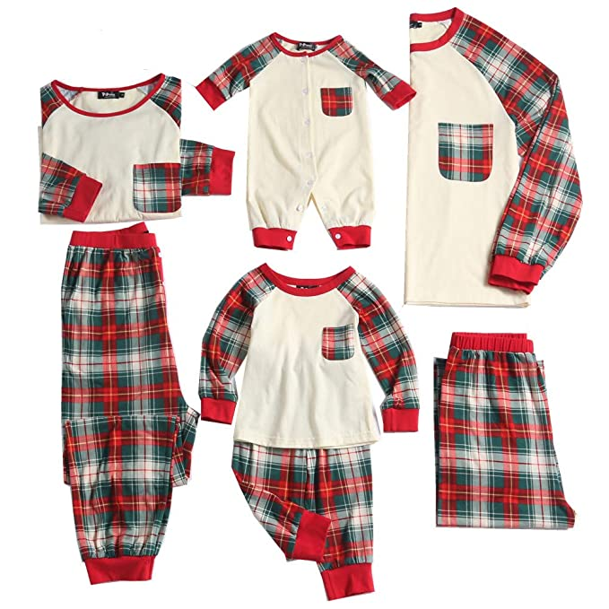348a6a97b86a Amazon.com  PopReal Plaid Family Matching Clothes Long Sleeve and ...