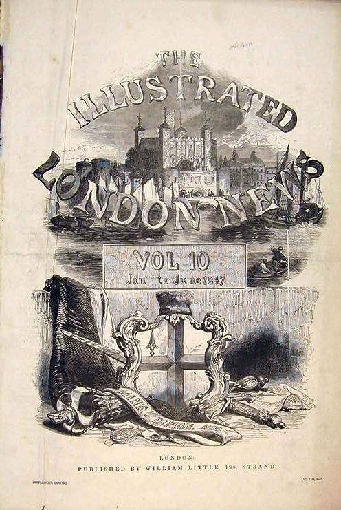 London Skizzen Nachrichten Deckblatt Themse Boots Schöne Kunst 1847