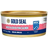 Gold Seal Wild Alaska Pink Salmon – Skinless Boneless - 6oz (170g) - 6 Count – 700mg Omega 3 per Serving (EPA and DHA Omega-3) - 20g of Protein per Serving - Cooked just once – Ready to Serve