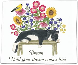 product image for Alice's Cottage ACU34444 Cat on Bench Flour Sack Towel Single