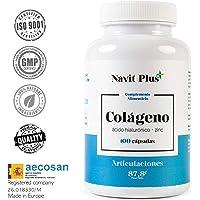 Colágeno hidrolizado. Colágeno + Acido hialurónico + Vitamina C + Zinc, 100 cápsulas. El Complemento alimenticio perfecto para la piel, mantenimiento de cartílagos y articulaciones.