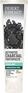 product image for Desert Essence Activated Charcoal Toothpaste - Fresh Mint - 6.25 Oz - Complete Oral Care - Deeply Clean - Tea Tree Oil - Baking Soda - Sea Salt - Carrageenan Free - Refreshes Breathe - High Quality