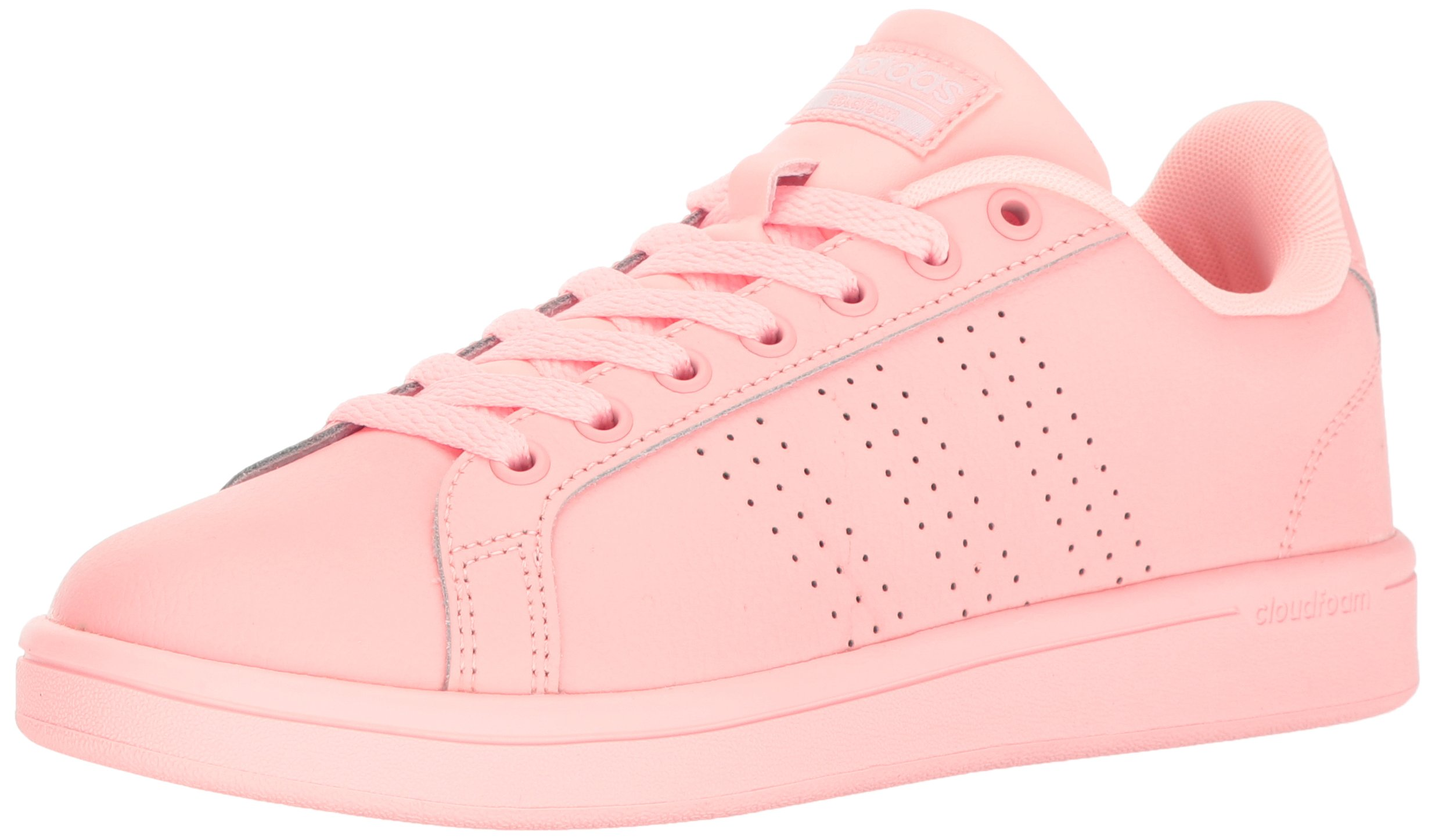 adidas Women's Cloudfoam Advantage Clean Fashion Sneaker Haze Coral/White (6 M US)