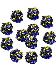 Merssavo 12pcs Mylar-Crinkle Foil Balls Cat Kitten Sound Play Toy Paper Rustle Hot