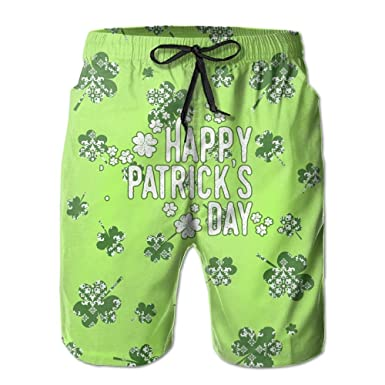 beb27c582d59e Patrick's Day With Liner Mens Boardshorts Swim Trunks Men Tropical Gym  Soccer Board