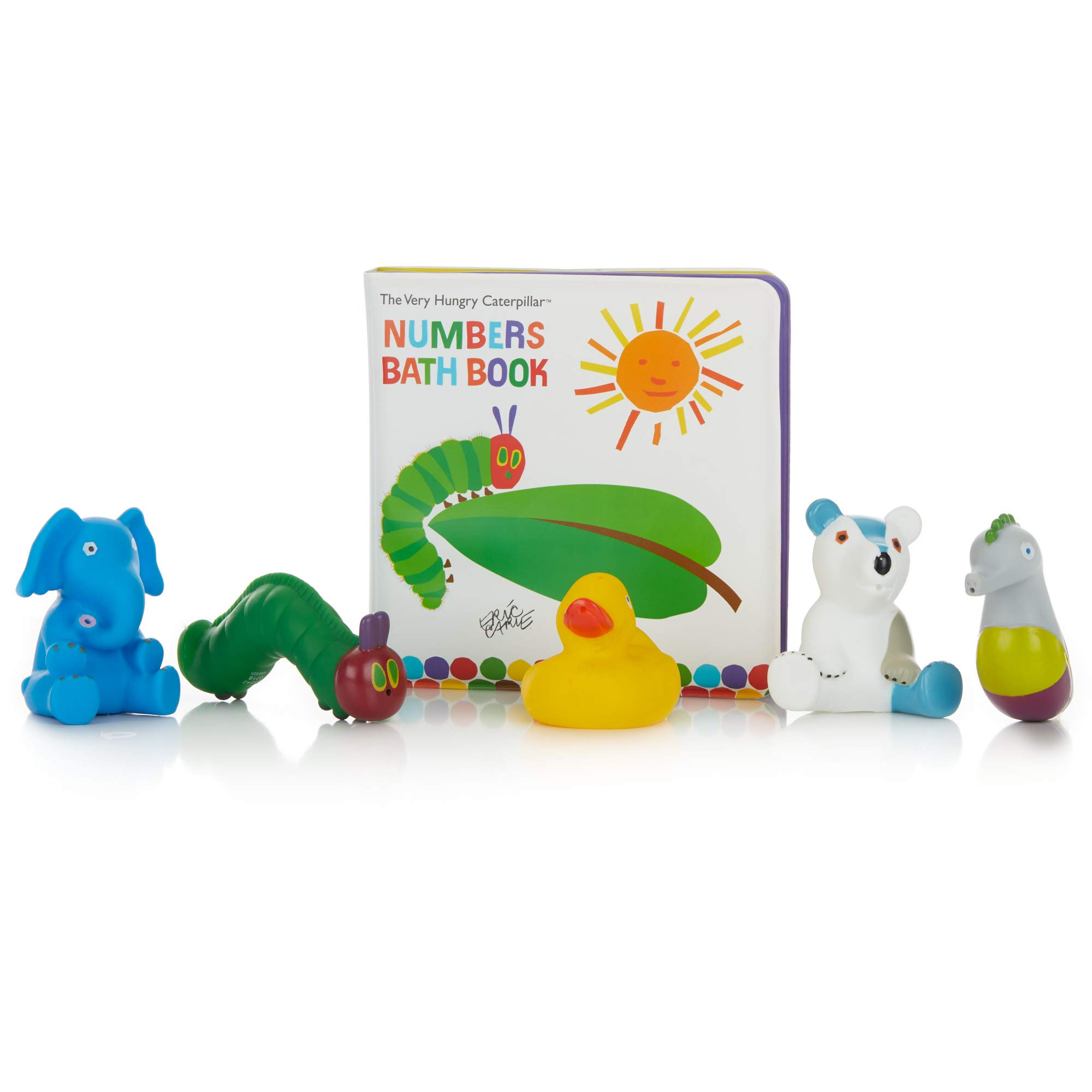 The World of Eric Carle, The Very Hungry Caterpillar Numbers Bath Book and Squirty Toys Set