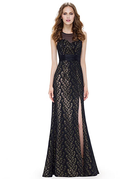 Ever Pretty Womens Elegant Floor Length with Slit Long Evening Dresses 08950: Amazon.co.uk: Clothing