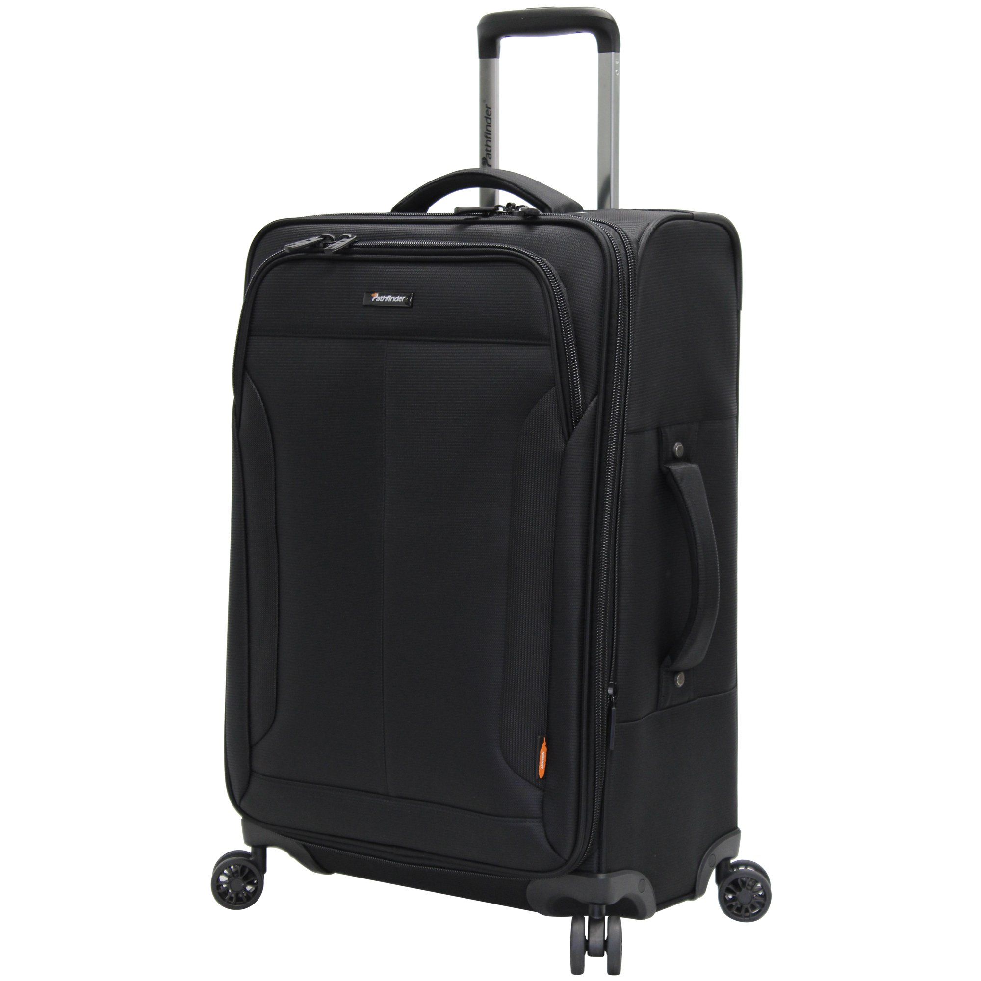 Pathfinder Luggage PX-10 Large 28'' Expandable Suitcase With Spinner Wheels (28in, Black)