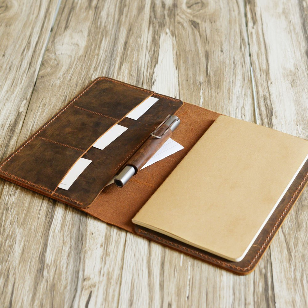 Personalized leather notebook journal refillable 5x8, notebook holder, legal pad cover, A5 Padfolio, 5x8, refillable travel notebook A5 insert, Portfolio