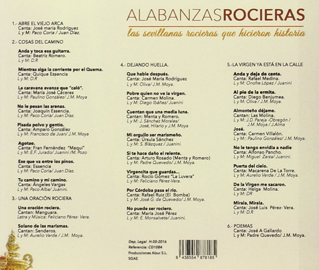 Alabanzas Rocieras: Las Sevillanas Rocieras Que Hicieron Historia ...