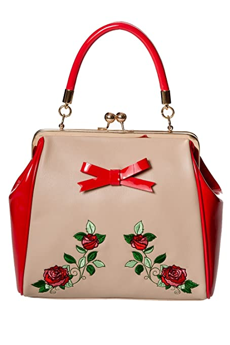 Vintage & Retro Handbags, Purses, Wallets, Bags Banned Apparel - Fantasy In Red $45.95 AT vintagedancer.com