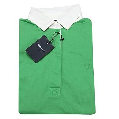 A0399 maglia donna GANT verde polo t-shirt sleeveless women [S ...