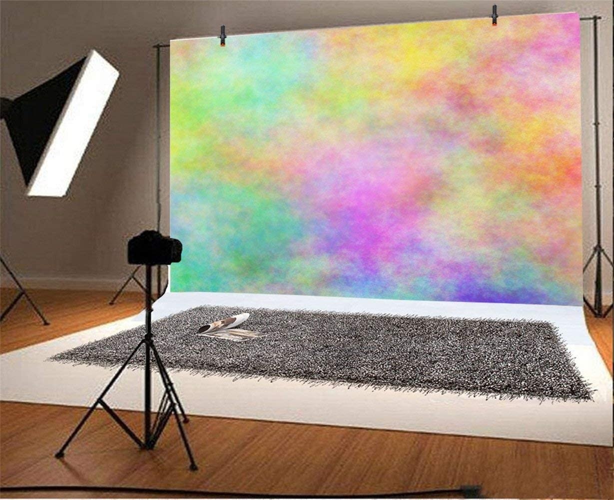 Abstract Blurry Colorful Wall Backdrop 9x6ft Polyester Dreamy World Imaginary Abstractionism Watercolor Painting Photography Background Baby Birthday Artistic Portrait Party Banner Cake Smash